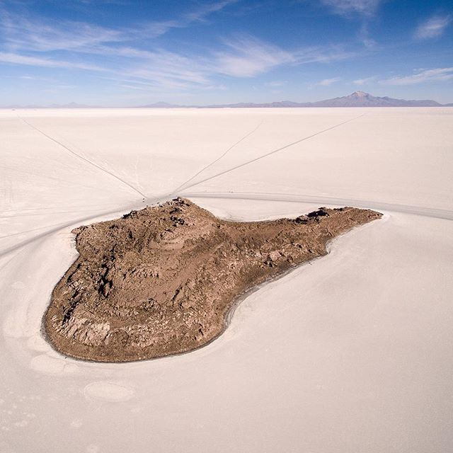 One of the wonders of salt flats of Uyuni! Isla Incahuasi is the Spanish name where isla means islan