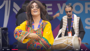 CWC19: ENG v AFG - Ridhima learns to dance the Afghan way