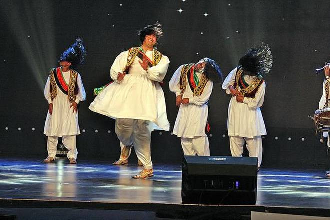 Lively performance Afghan dancers during the ABU festival. Photo by The Hindu.