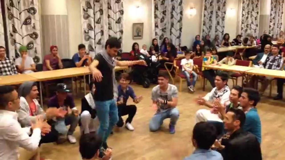 Qarsak in Sweden, 2014. Still taken from Latif Jafari's YouTube video.