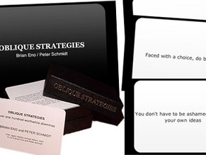 Breaking the Creative Ceiling: Oblique Strategies