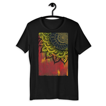 Red and Yellow Henna Design T-Shirt