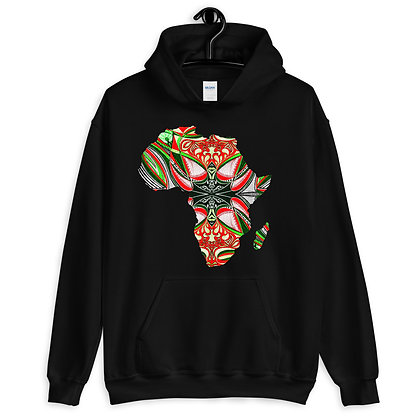 Africa 'Strawberry Lime 2' Unisex Hoodie