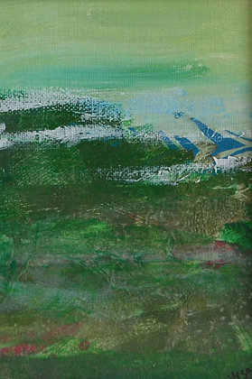 Mini Abstract Landscape 'Green 3'
