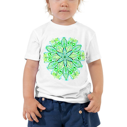 Green Mandala Toddler Short Sleeve T-Shirt