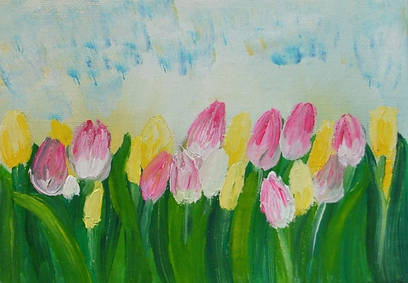 Mini Abstract Floral 'Tulips'