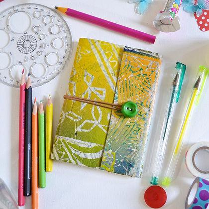 Handmade Sketchbook Journal Green Yellow