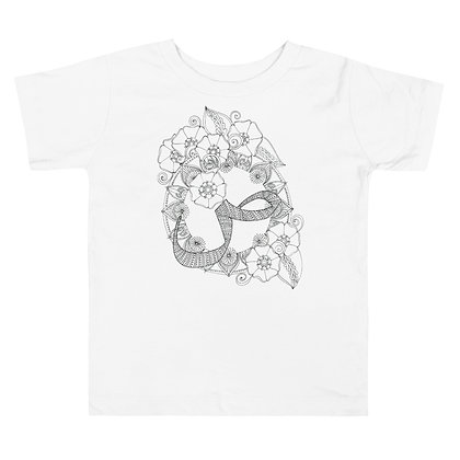 Arabic letter 'Saad' Toddler Short Sleeve T-Shirt