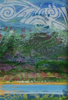 Mini Abstract Landscape 'Sea'