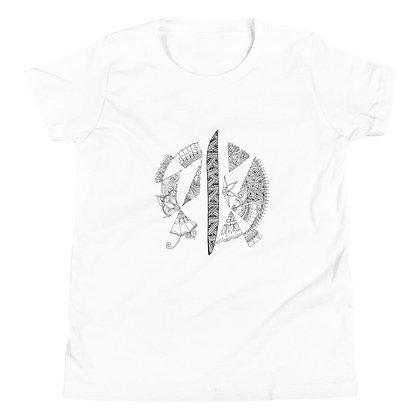 Arabic Letter 'Alif' Youth Short Sleeve T-Shirt