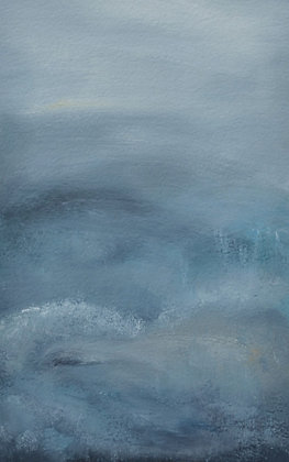 Abstract Landscape 'Embracing Grey'
