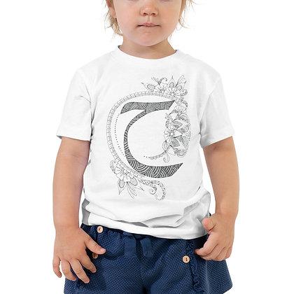 Arabic letter 'Haa' Toddler Short Sleeve T-Shirt