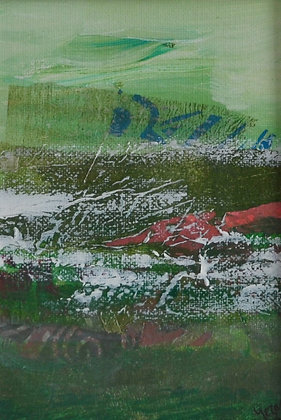 Mini Abstract Landscape 'Green 2'