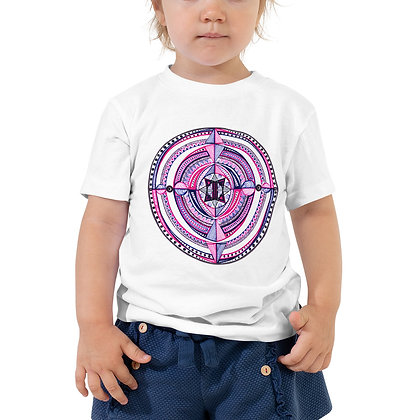 Purple Mandala Toddler Short Sleeve T-Shirt
