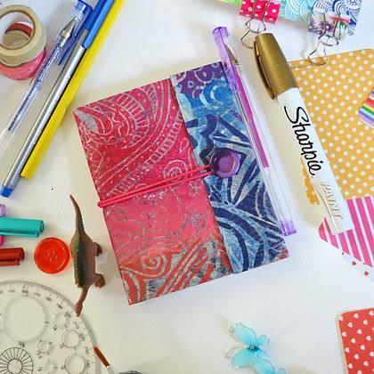 Pink Blue Handmade Sketch Journal