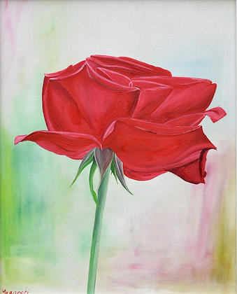 Floral Painting 'The Red Rose II'