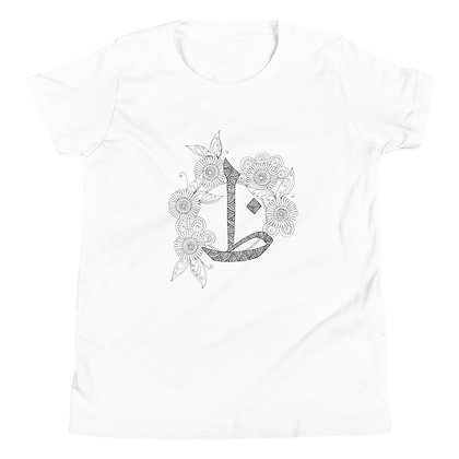 Arabic Letter 'THaa' Youth Short Sleeve T-Shirt