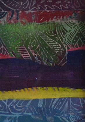 Mini Abstract Landscape 'Purple 2'