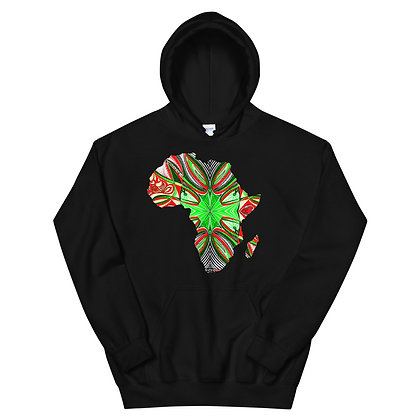 Africa 'Strawberry Lime 3' Unisex Hoodie