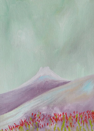 Mini Abstract Landscape 'Fuji'