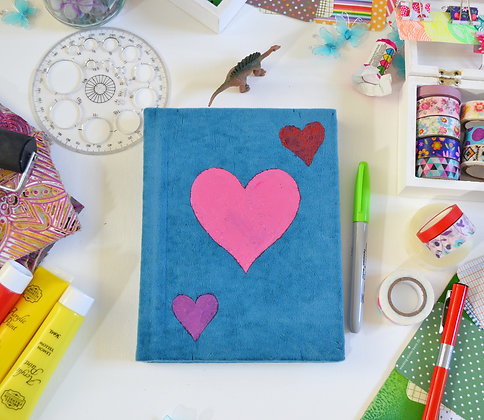 Handmade 3 Heart Journal Sketchbook