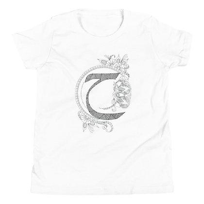 Arabic Letter 'Haa' Youth Short Sleeve T-Shirt