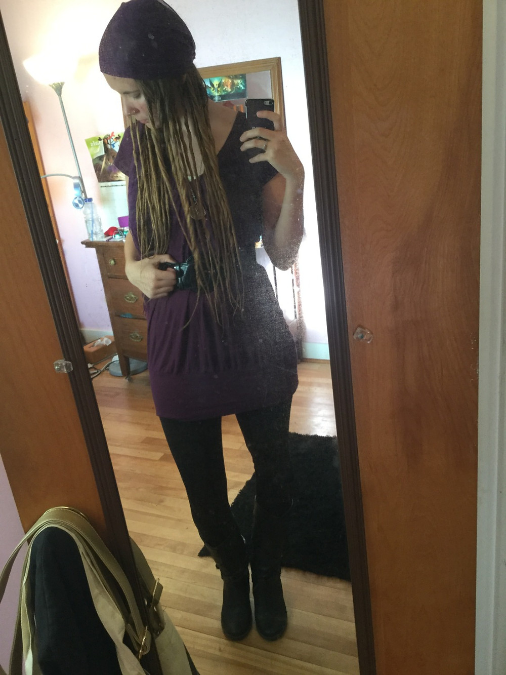 Since it's close to Halloween, it was a costume dance night, and I chose to go as a pirate *surprise, surprise :P*. The fake dreads stayed in all night and all the next day (yesterday) as well, and I could definitely get used to a hairstyle like that.