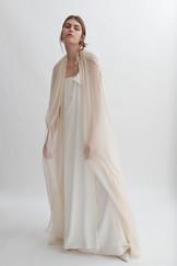 FEMME MAISON Laurent Chiffon Cape & Halston Dress