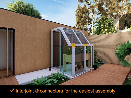 Kit Expandable Greenhouse. 5.5 ft. x 4.75 ft. Galvanized Steel Frame