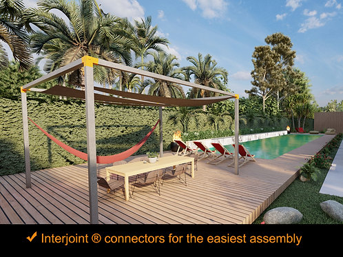 "Kit ""Terraza Playa"". 10 ft. x 10 ft. Galvanized Steel Frame"