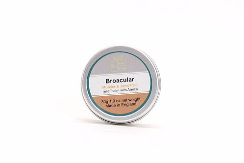 Broacular balm.Front view