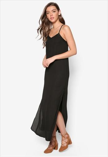 black-slip-dress
