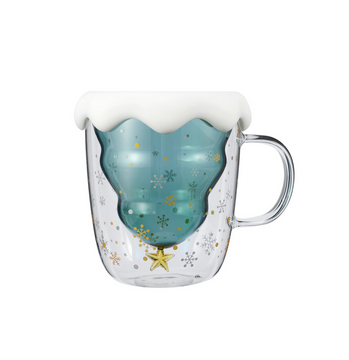 Double-Walled Christmas Wishes Glass Cup