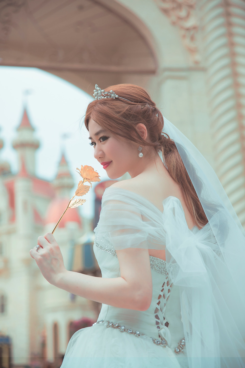 Beauty and the beast wedding belle