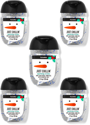Bath and Body Works SPARKLING ICICLES PocketBac Hand Sanitizer, 5-Pack