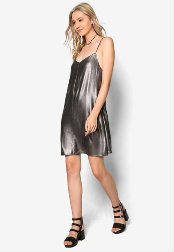 metallic-slip-dress