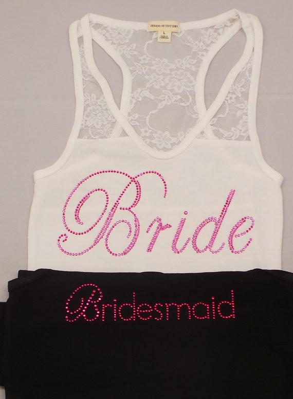 Bride bridesmaid shirt