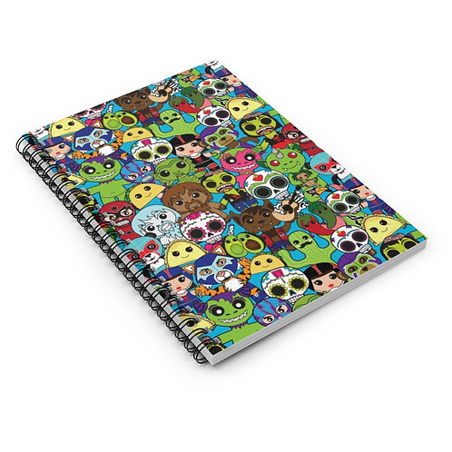 SL Creatures Spiral Notebook - Ruled Line