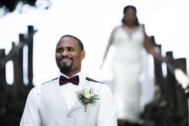 Barnes Wedding Bride Coming Down Stairs