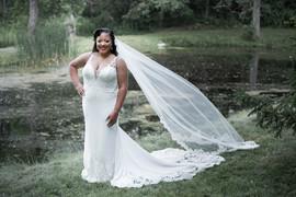 Bride Standing Alone
