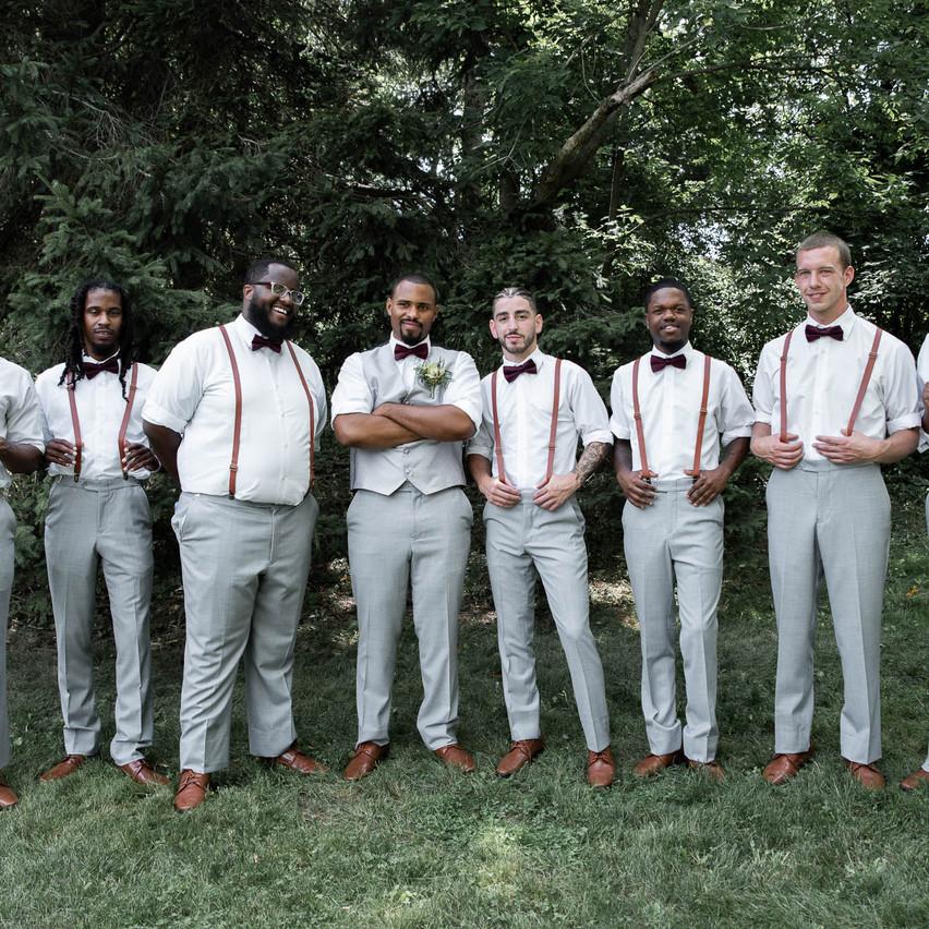 First Look- Groomsmen