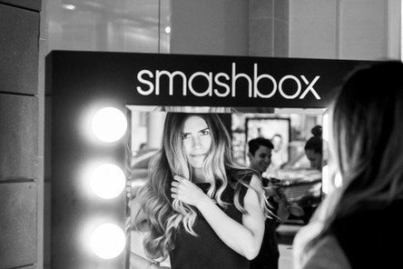 Our model @ the beautiful Smashbox Mirror