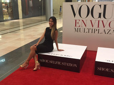 Our model @ the #ShoeSelfie Station