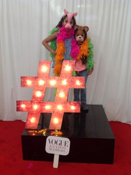 Mystery #Hashtag - Fashion Photobooth stand where customer choose a digital random #hastag and create their unique costumer with funny props