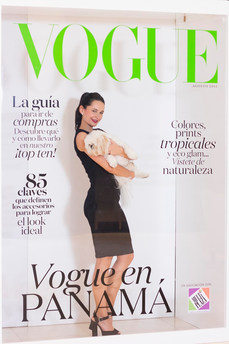 Another of our model with a cute pet @ the Vogue Cover