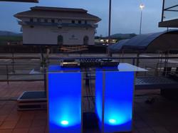 Cubos LED estación para DJ