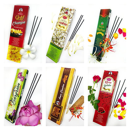 Agarbatti/Incense Bundle (6 Variety)
