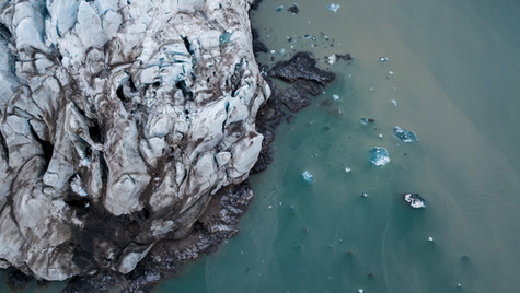 Floating Glacier Ice