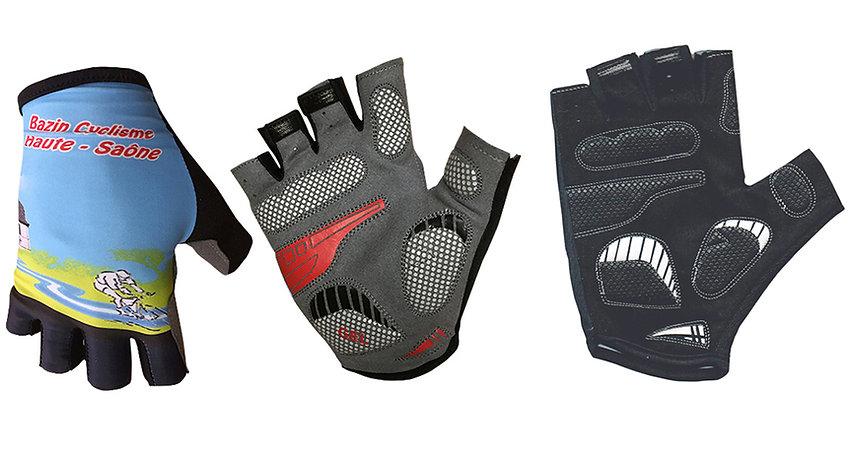 Guante de ciclismo personalizado para equipos y marcas con gel en las palmas