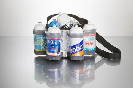 Porta bidones de tela de Tacx para 6 bidones de 500 ó 750 cc personalizados para deporte y ciclismo